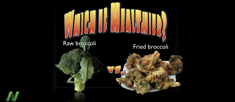 Raw vs. Cooked Broccoli